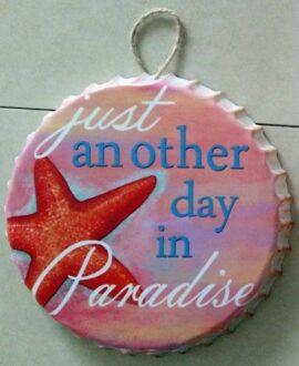 Starfish Paradise Metal Bottle Cap