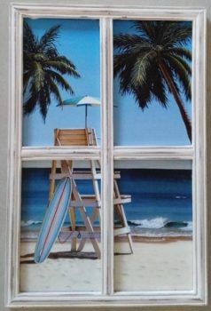 Wood Window Beach View
