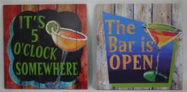 Assorted Bar Drinking Sign