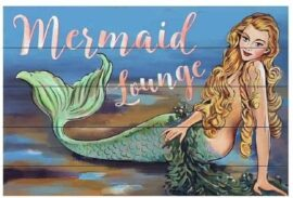 Wooden Vintage Mermaid Sign