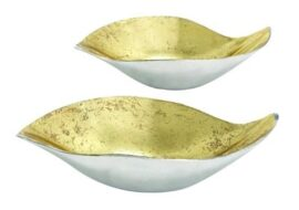 Set of Two Leaf Bowls