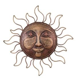 Metal Wall Sun Face