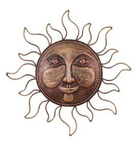 Metal Wall Sun Face
