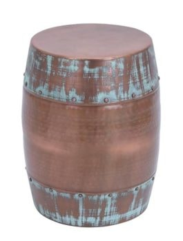 Copper and Verdigris Color Stool