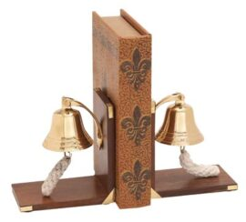 Nautical Bell Bookend Pair