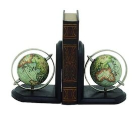 Globe Bookend Pair