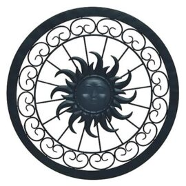Metal Sun Round Wall Decor