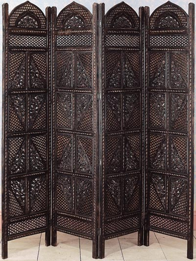 Carved Wooden Room Divider