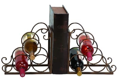 Wine Rack Bookends