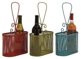 Assorted Double Wine Bottle Basket