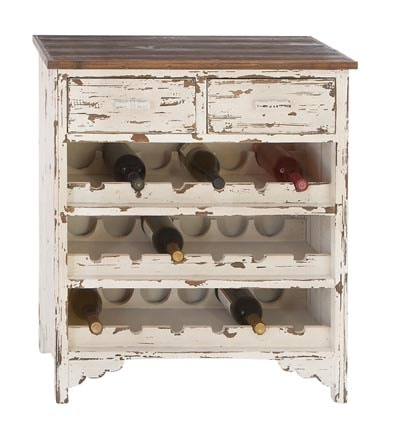 Distressed Wooden Wine Cabinet