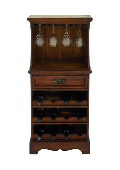 Wooden Wine Rack Cabinet Globe Imports
