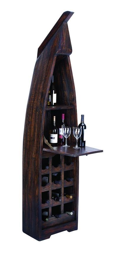 Ship shaped wine cabinet globe imports - Wine rack shaped like wine bottle ...