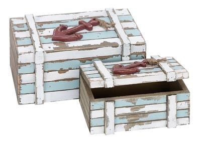 Set of 2 Nautical Boxes