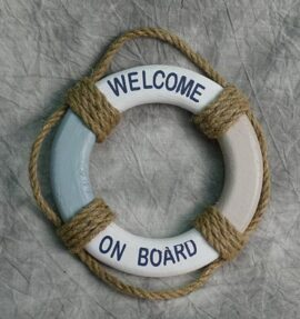 Wood Life Ring with Rope