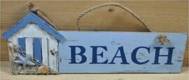 Wood Beach House Sign