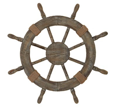 Rustic Wooden Ship Wheel
