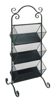Three Tiered Basket Display Rack