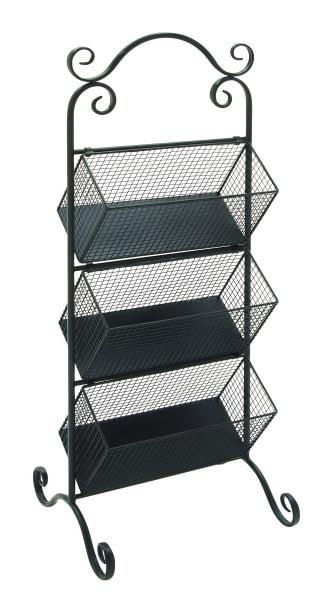 Three Tiered Basket Display Rack Globe Imports