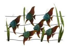 Angelfish in Grass Wall Decor