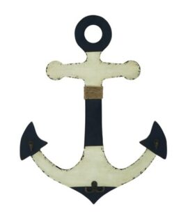 Wood Anchor Wall Hanging with Hooks