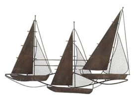 Metal Sailboats Wall Decor