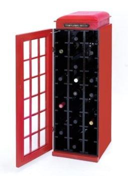 British Phone Booth Wine Cabinet