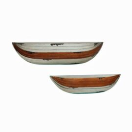 Set of Two Wall Boat Shelves