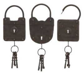 Metal Lock Assorted Wall Decor