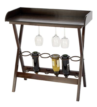 Wine Rack Bar Table