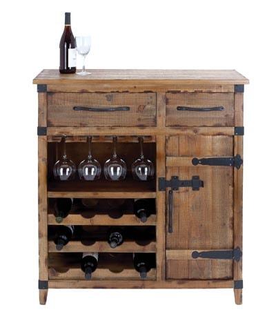 Antique Reproduction Wine Cabinet - Antique Reproduction Wine Cabinet - Globe Imports