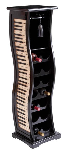 Piano Keyboard Wine Rack