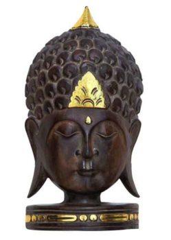 Wooden Buddha Head Decoration