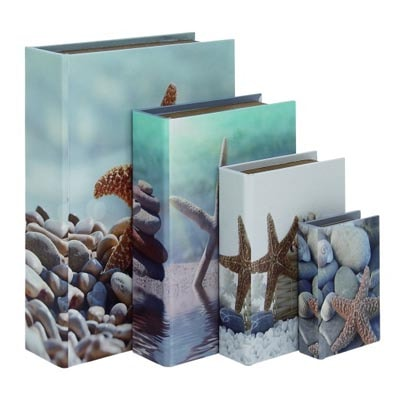 Set of Four Starfish Book Boxes
