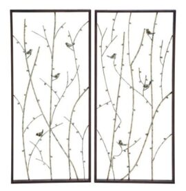 Assorted Birds and Branches Wall Art Panel