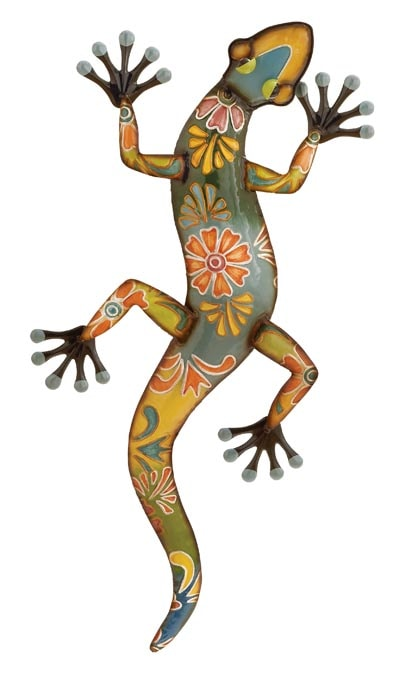 Painted Lizard Wall Decor
