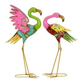 Colorful Flamingo Pair