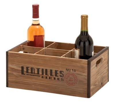 Wooden Wine Crate Globe Imports