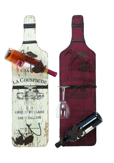 Assorted bottle wall wine rack globe imports - Wine rack shaped like wine bottle ...