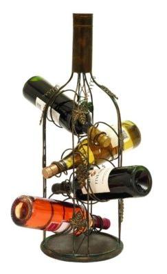 Wine Bottle Shaped Wine Rack