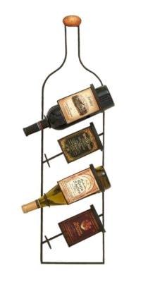 Bottle Shaped Wall Wine Rack
