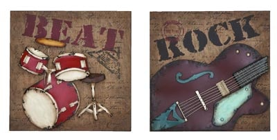 Rock Music Wall Decor