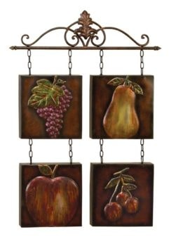 Metal Fruits Wall Hanging