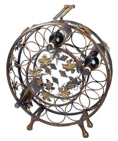 round metal wine rack - Metal Wine Rack