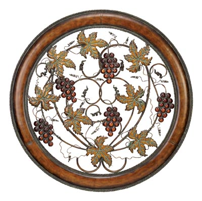 Grape Round Wall Decor