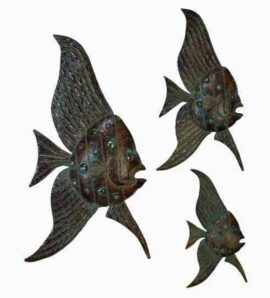 Set of Three Wall Angelfish