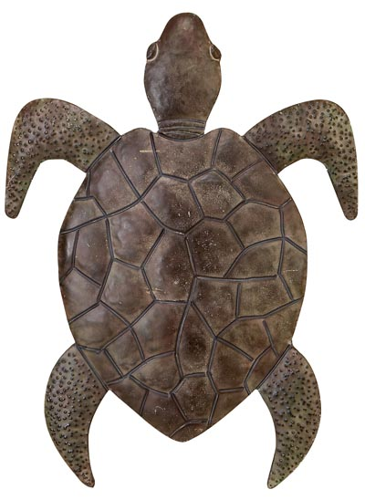 Metal Wall Sea Turtle Globe Imports