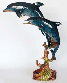 Artistic Statue of Dolphins