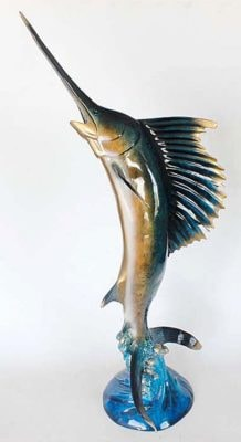 Artistic Leaping Sailfish Statue