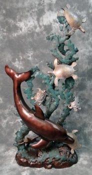 Metal Sea Life Sculpture